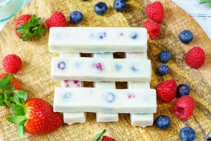 Frozen Yogurt Berry Bites! - These make a DELICIOUS treat or also GREAT for smoothie Prep! When we keep it simple, we reach our goals :) Ingredients: 1/2 cup mixed berries of choice 1 cup Greek yogurt 2 Tbsps raw honey (to taste) 1/2 tsp vanilla extract Silicon molds (found on Amazon or in kitchen supply stores)...