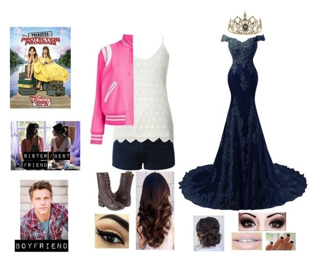 """Me in Princess Protection Program (2009)"" by moon-and-back-babe123 ❤ liked on Polyvore featuring LE3NO, Dorothy Perkins, Yves Saint Laurent, Dollhouse and Fiebiger"