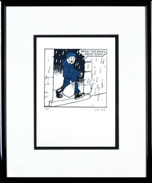 John Patrick Reynolds, Oor Wullie in his Sou'wester | Scottish Contemporary Art