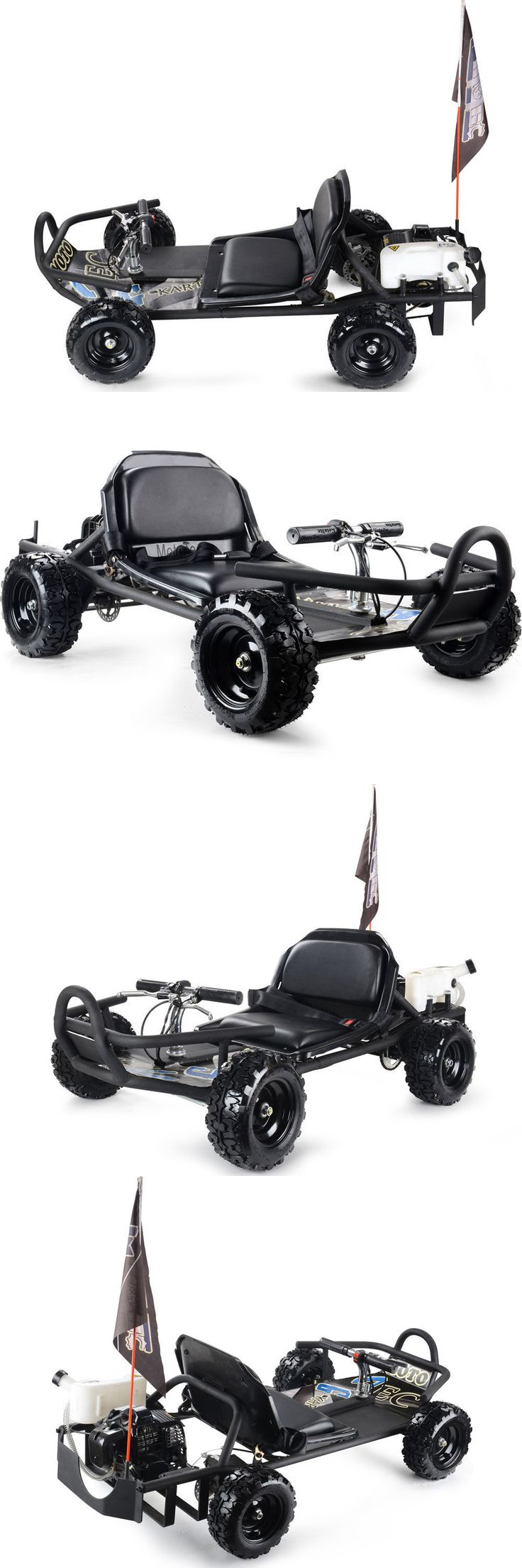 Complete Go-Karts and Frames 64656: New Fast Pull Start Gas Go Cart Off Road Kids Scootercrew Black 2 Stroke Petrol BUY IT NOW ONLY: $629.0
