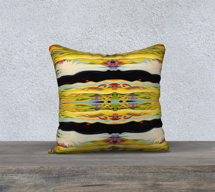 """18""""+x+18""""+pillow+""""Pathways+To+Peaceful+Possibilities""""+by+Amy+Ferrari"""