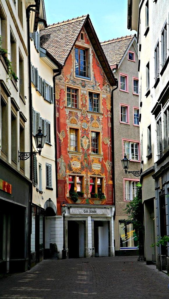 Old town of Chur, Switzerland (by bulach)