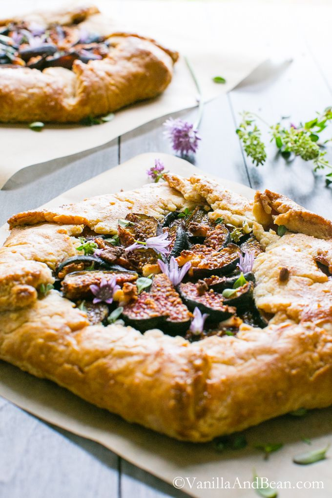 and Fig Galette with Goat Cheese and Herbs | A rustic, savory galette ...