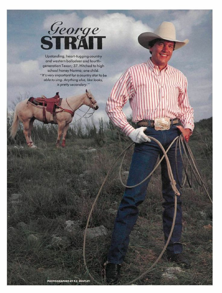 MEANWHILE, BACK AT THE RANCH - George Strait on his South Texas ranch.