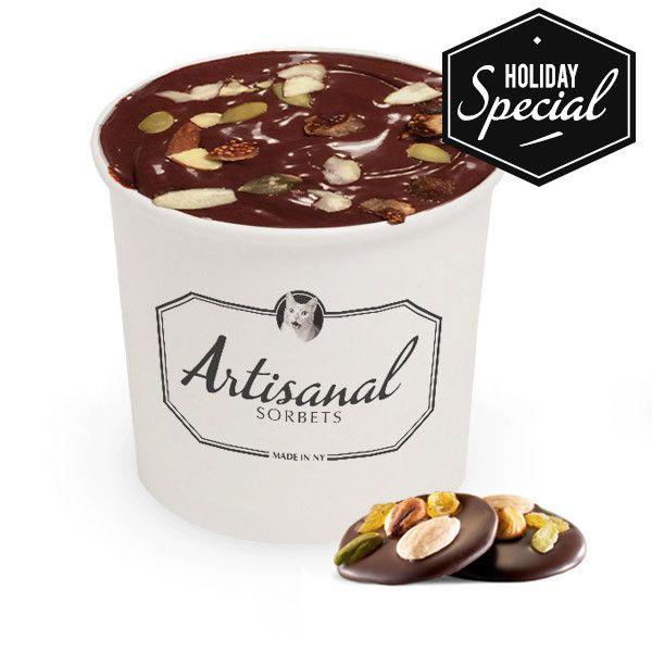 Chocolat Mendiant Sorbet with Pumpkin Seeds