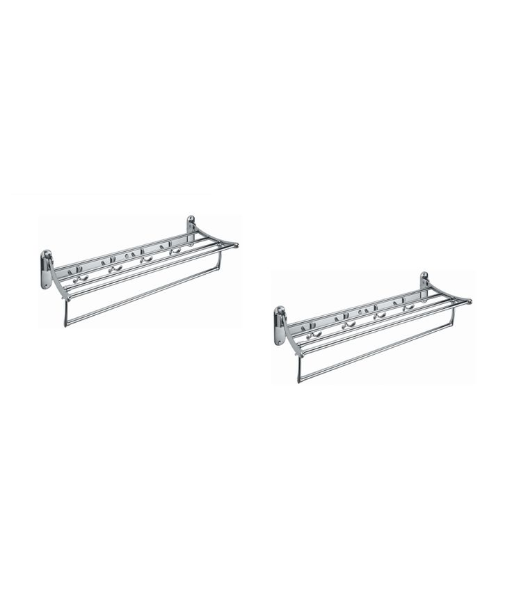 Towel Rack (eara) stainless steel folding rack plush khutti 2 pcs best price 3134