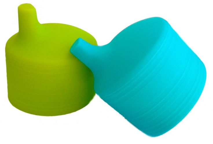 New Siliskin tops by Siliskins fit over any glass to turn it into a sippy cup.