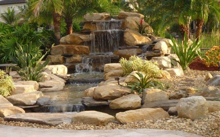 Dise o de cataratas de jard n cascadas estanques y for Cascadas de piedra para jardin