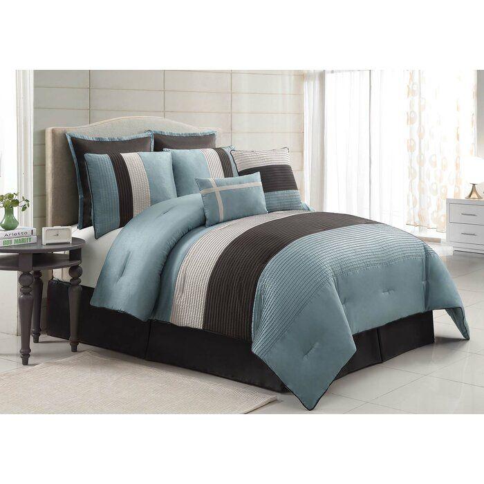 Alcott Hill Windward 8 Piece Comforter Set Wayfair Comforter Sets King Comforter Sets Bed Comforters