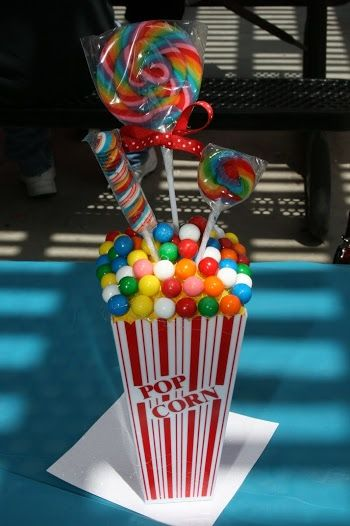 Five Easy and Cute Centerpieces for a Circus Party.