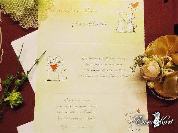 L'invito nuziale romantico, con un pizzico di tenerezza.
