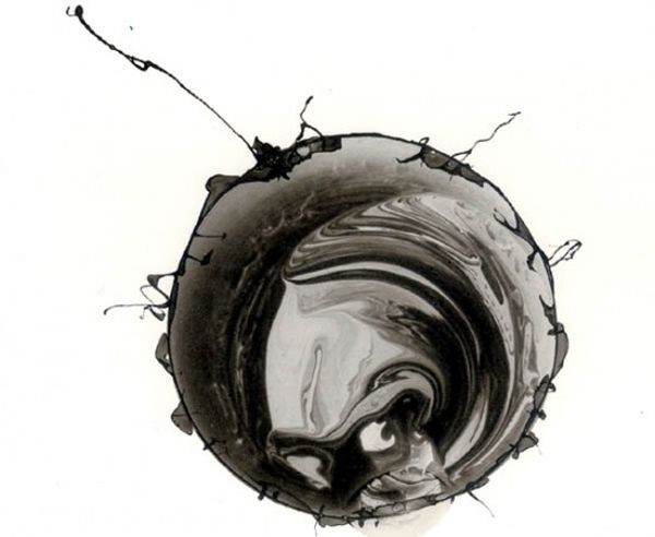 Roland Flexner | Ink Drawings | i like that they look like outer space or something cellular...