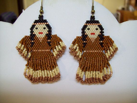 Native Amerian Beaded Copper and Buckskin by BeadedCreationsetc, $35.00