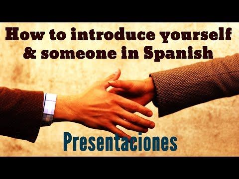 "This video covers 4 different ways to introduce yourself in Spanish and 3 ways to introduce someone else in Spanish. You will listen to a native speaker saying several expressions in Spanish written in beautiful pictures, all about Spanish introductions and greetings. You will see questions and phrases in Spanish like ""Mi nombre es... ""(my name is in Spanish), Soy de...(I am from in Spanish), ¿Cómo te llamas? (What´s your name in Spanish), Yo soy…"