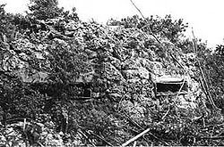Japanese fortifications.