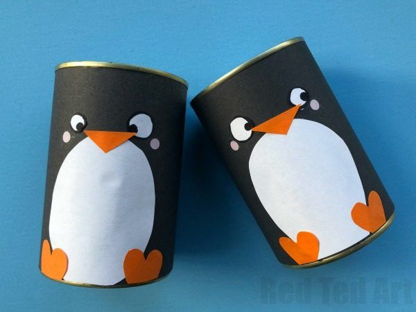 Diy Penguin Pencil Holder Red Ted Art Make Crafting With Kids