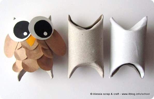 scatolina fatta con rotolo carta igienica