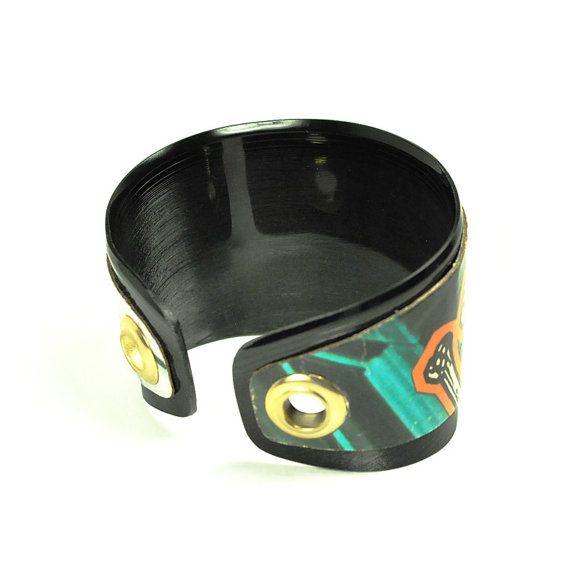 Vinyl Record Cuff Bracelet Personalized by VintageVinylMerch