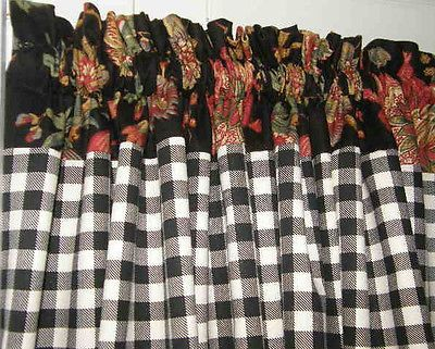 french+country+curtains+valances | Custom French Country VALANCE Roosters Cafe…