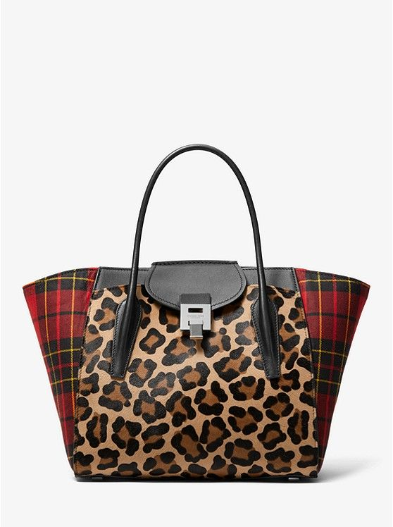 2a1860750593 Love this tartan and leopard combo. Love this tartan and leopard combo  Occasion Bags, Michael Kors ...