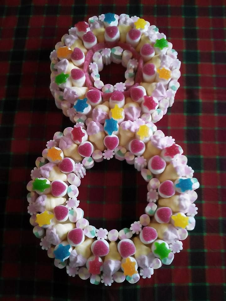 """Cake """"Number""""  Forse la matematica non sarà una delle materie preferite dai bambini, ma numeri come questi sicuramente sanno attirare la loro attenzione e farsi amare alla follia! #torta #torte #caramelle #caramellegommose #marshmallow #candy #bonbon #numero #number #compleanno #birthday #bambini #children"""