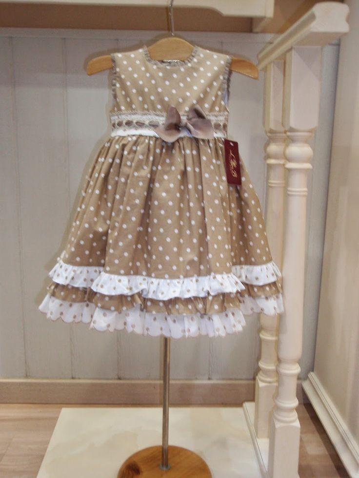 vestidolunares niña | Vestido lunares camel de loan.bor talla 2 años. AHORA 39 €.