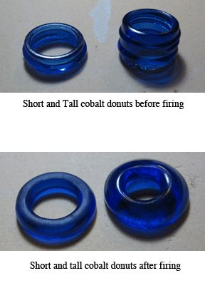 Fused Recycled Glass Donuts