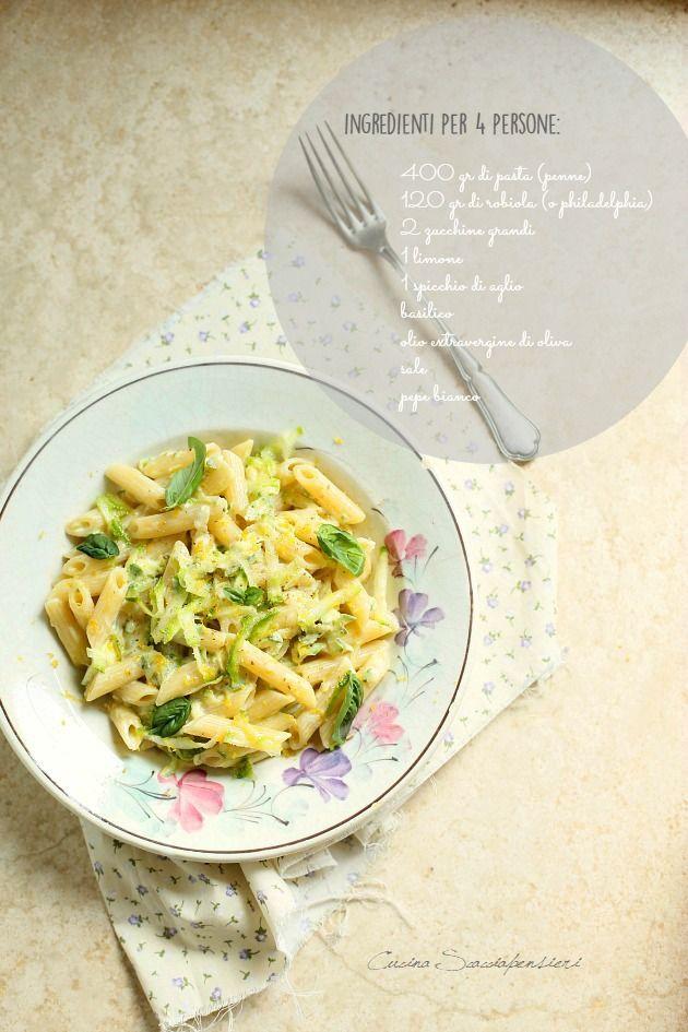 Penne con zucchine e limone | Cucina Scacciapensieri