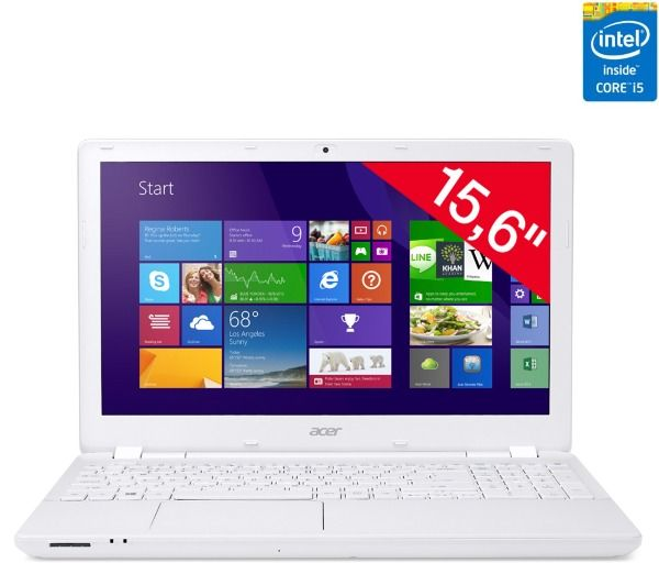acer aspire v3 572g 55nr blanc pas cher prix promo. Black Bedroom Furniture Sets. Home Design Ideas