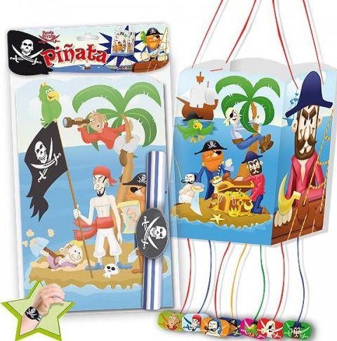 Cosas43, detalles y regalos para los invitados, boda, comunión y bautizo, regalos infantiles Piñata Bandera Piratas [86-5455A] - Piñatas para la fiesta de cumpleañosPiñata cuadrada bandera pirata.Contenido de la bolsa: 1 piñata y una pulsera Medidas Piñata: 19,5 x 19,5 x 31 cm