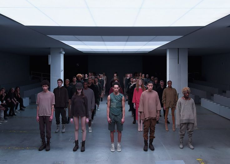 """Kanye West debuts his first Adidas collection and describes it as the world's """"first solutions-based"""" clothing line."""