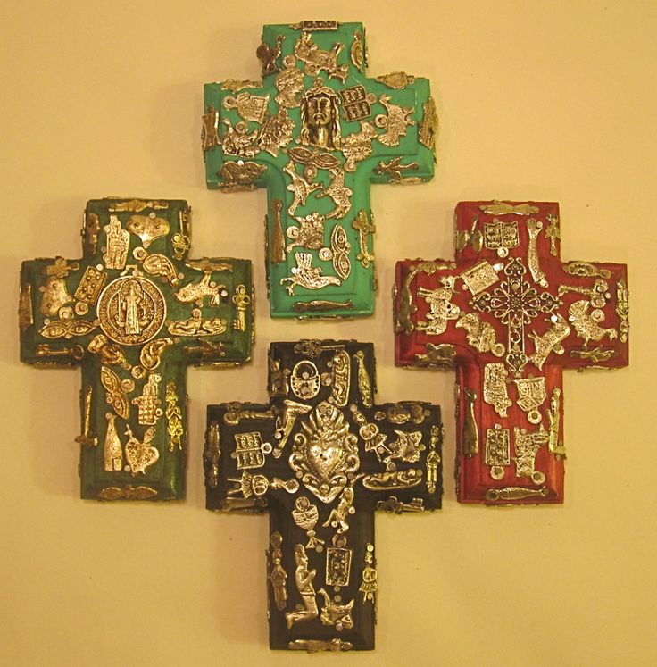 Mexican Milagros Talisman Crucifix