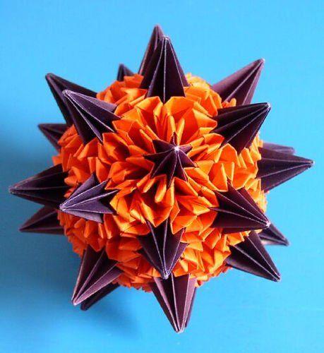 Кусудама для начинающих: схемы сборки цветов и видео уроки