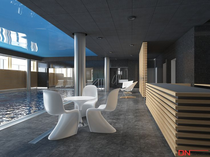 BRISTOL ART & SPA Sanatorium in Busko zdroj, Poland. Design and Rendering of the Indoor Swimming pool.