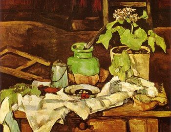 Vase Of Flowers On A Table 1882 | Paul Cezanne