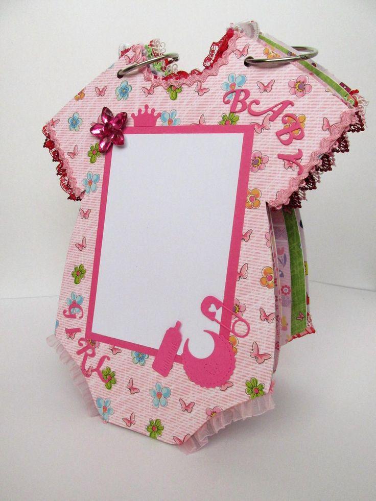 Baby Mini Album, Onesie Mini Album, Scrapbook Album, Photo Album, Ready To Ship, Gift for New Baby, Baby Girl, by ArtCraftLand on Etsy