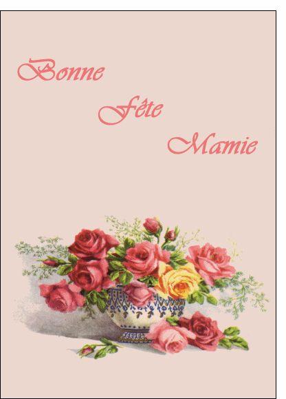 Carte Bonne fête mamie carte ancienne pour envoyer par La Poste, sur Merci-Facteur ! #carte #ancienne #fêtedesgrandsmères