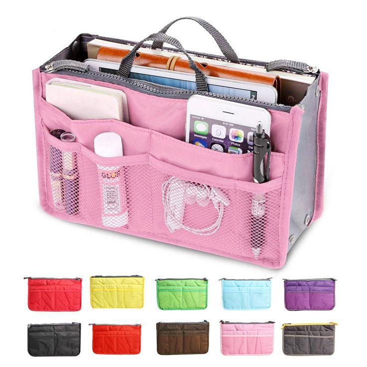 Neue Damenmode Tasche in Taschen Kosmetische Aufbewahrungsbox Organizer Makeup Lässig Reise Handtasche BS88