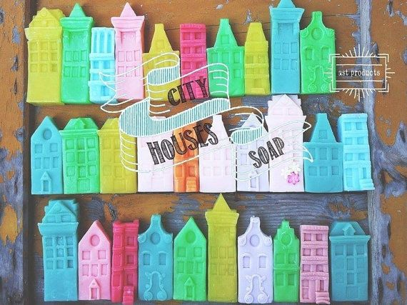 Spring Soap Houses. Handmade organic soaps. Spring by ASTPRODUCTS