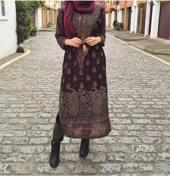 long transparent oriental tunic / dress / #hijabi
