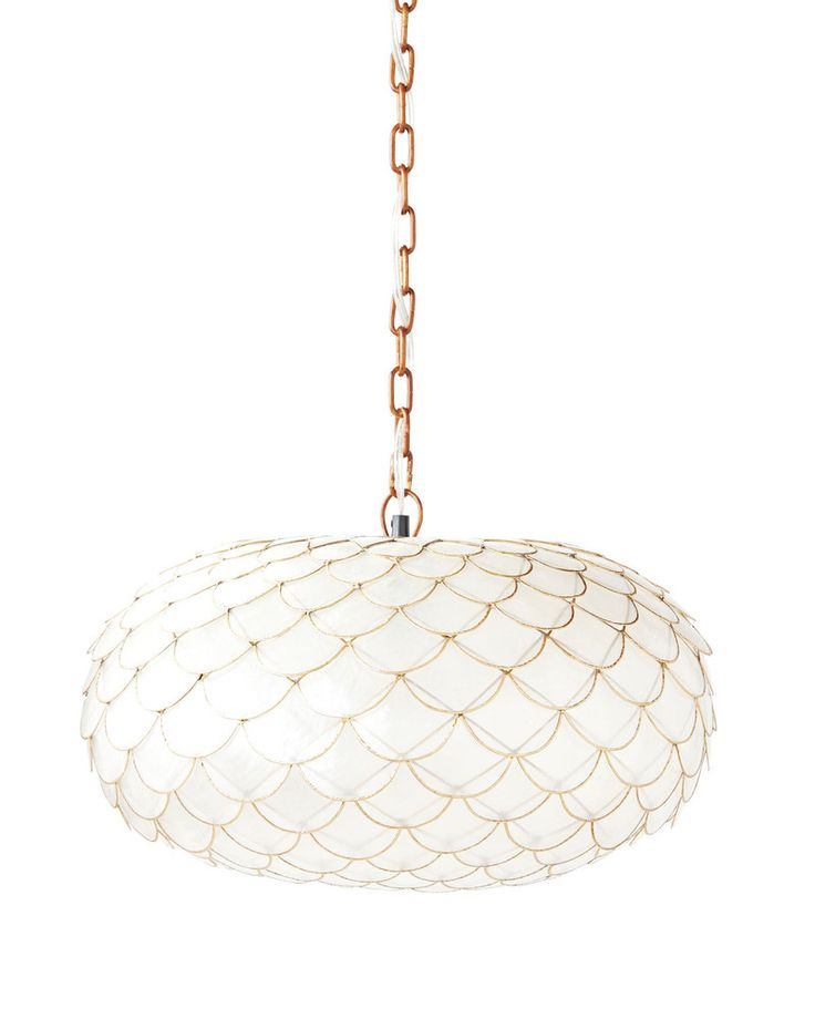 serena & lily <p>Always looking for opportunities to add texture and dimension to a room, we fell in love with this chandelier. The scalloped design is beautifully layered, with gold tones that add a little extra lustre. And the capiz shells themselves are the perfect natural diffuser, illuminating your space with a soft, warm glow.</p>