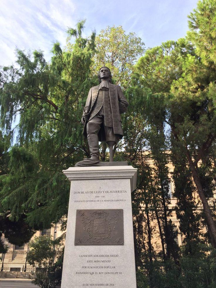 Monumento al más grande marino español de todos los tiempos. El Excmo. Sr. D. Blas de Lezo y Olavarrieta.