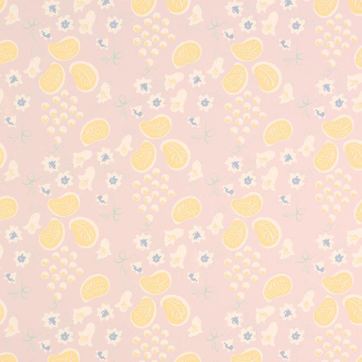 "Laura Ashley ""Charleston Grapes Pale Plum"" wallpaper"