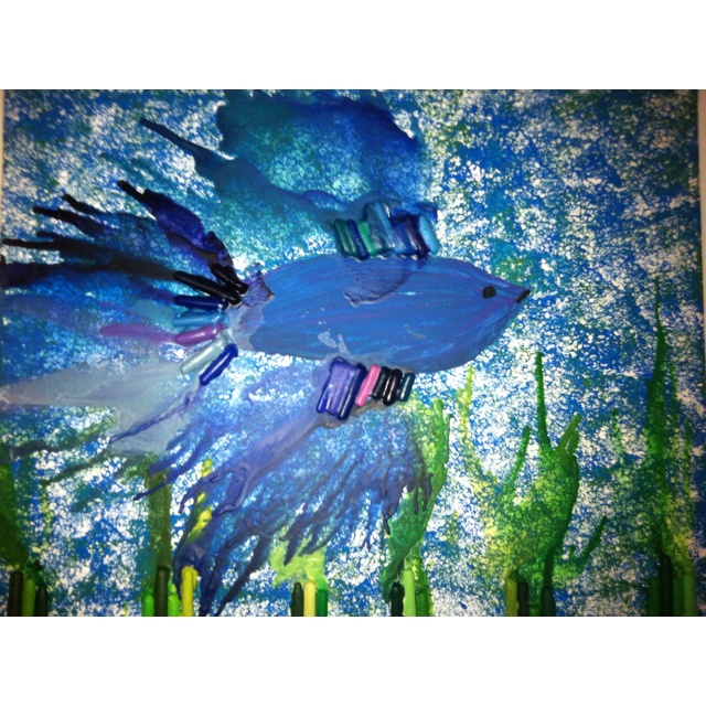Betta fish melted crayon art melted crayons pinterest for How much does a betta fish cost