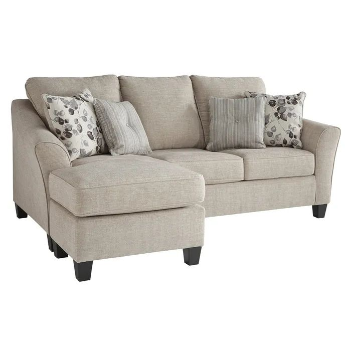 Furniture Chaise Sofa Couch, Cream Sleeper Sofa With Chaise