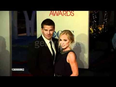 David Boreanaz, Jaime Bergman at 2012 People's Choice Awards