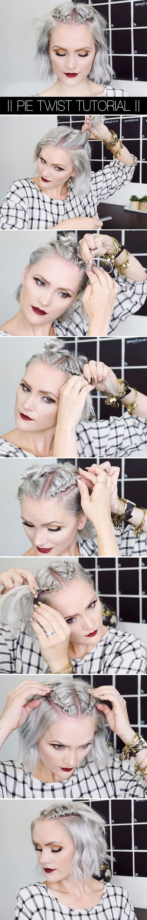 cute half-up, half-down hairstyles for people with short hair