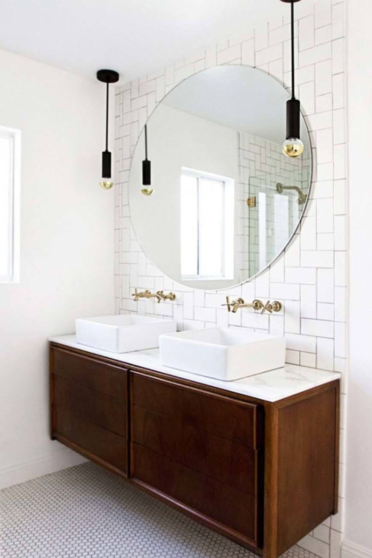 Modern bathroom mirrors - 37 Amazing Mid Century Modern Bathrooms To Soak Your Senses