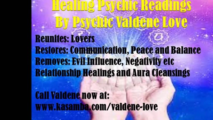 Healing Psychic. Psychic reader at www.kasamba.com/valdene-love