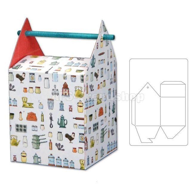 Sizzix Bigz L Box w/Stick Handle Hole, Stanzschablone Geschenkschacht
